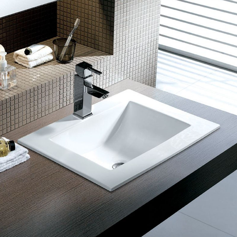 Square Porcelain Topmount Sink Apex