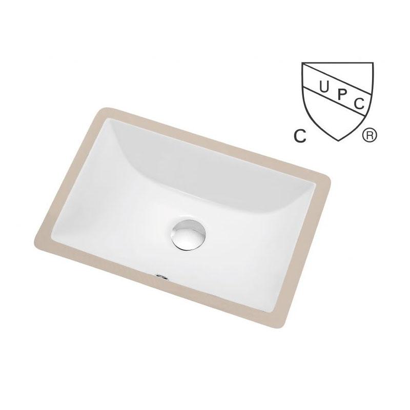 Square Porcelain Undermount Sink