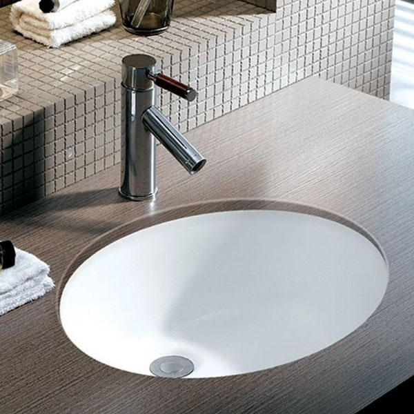 White Porcelain Bathroom Sink
