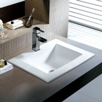 Square Porcelain Topmount Sink