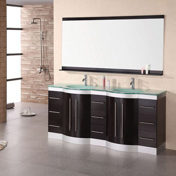 Design Element Jasper 72 Inch Double Sink Vanity Set