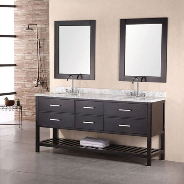 Design Element 72 Inch Double Sink Vanity Set