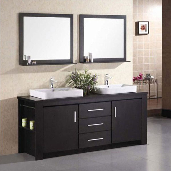 Design Element Washington Double Sink Vanity Set