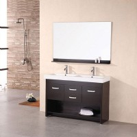 Design Element Citrus 48 Inch Double Sink Vanity Set