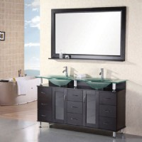 Design Element Redondo 60 Inch Double Sink Vanity Set