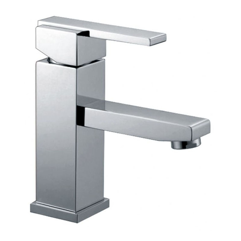 Square Single Lever Lavatory Faucet