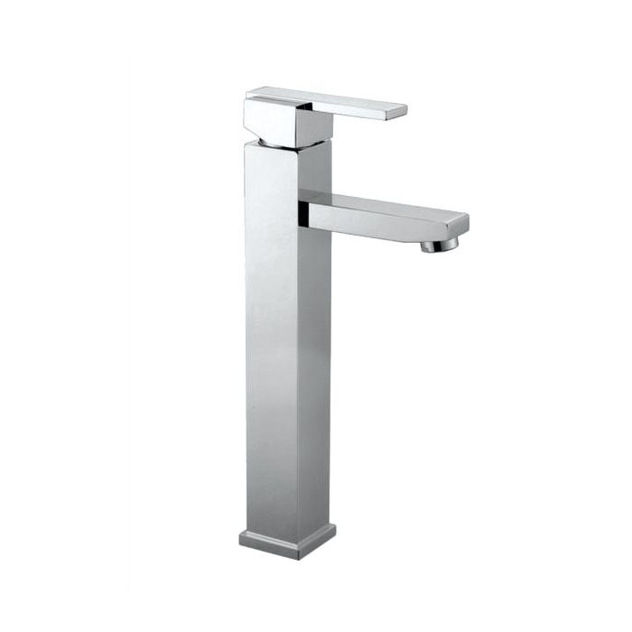Square High-Raised Single Lever Lavatory Faucet