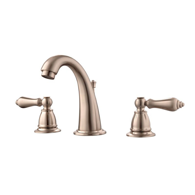Solid Brass Widespread Lavatory Faucet Brushed Nickel