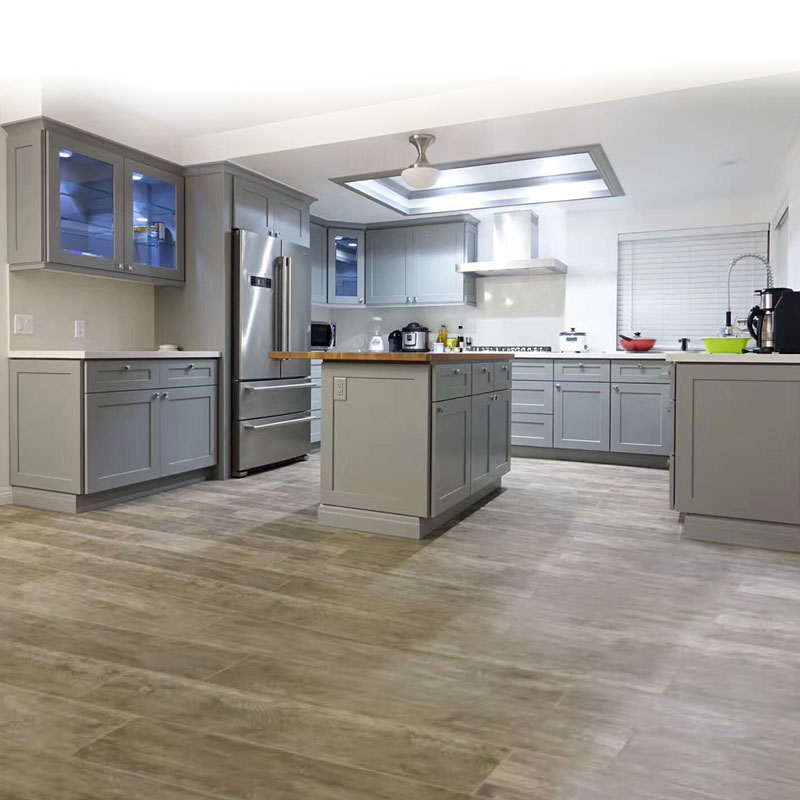 Light Grey Shaker Style Contemporary Kitchen Cabinetry Apex Kitchen Cabinets