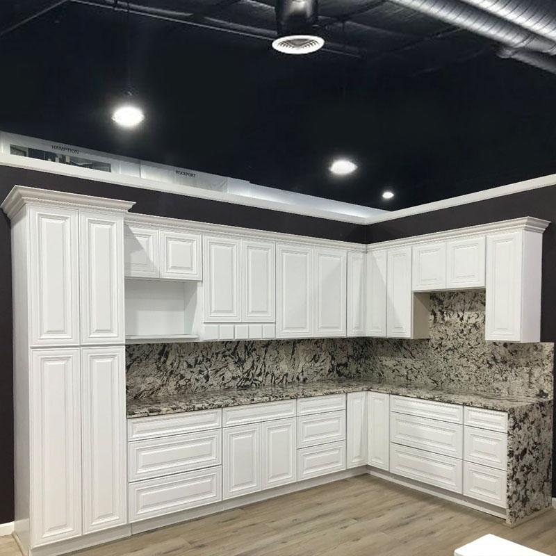 Bright White Raised Panel Cabinet Apex Kitchen Cabinets