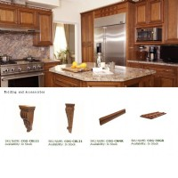 Glazed Honey Maple Raised Panel Kitchen Cabinets