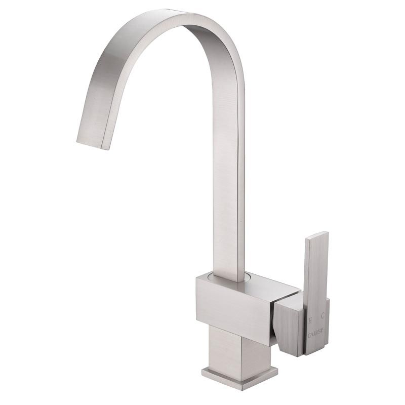 Single Lever Square Kitchen Faucet without Side Sprayer Head