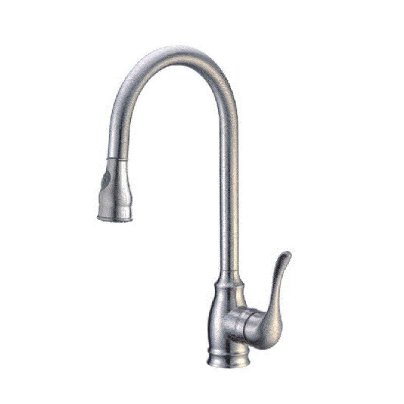 Single Handle Kitchen Faucet with Pull-Down