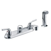 Two Single Handle Centerset Kitchen Faucet with Side Sprayer
