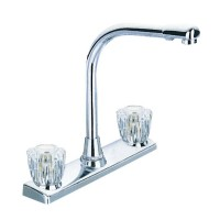 Two Handle Centerset Kitchen Faucet Brushed Nickel Finished
