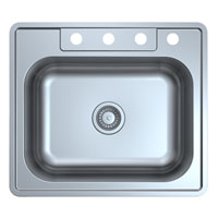 Single Blow Stainless Steel Topmount Sink