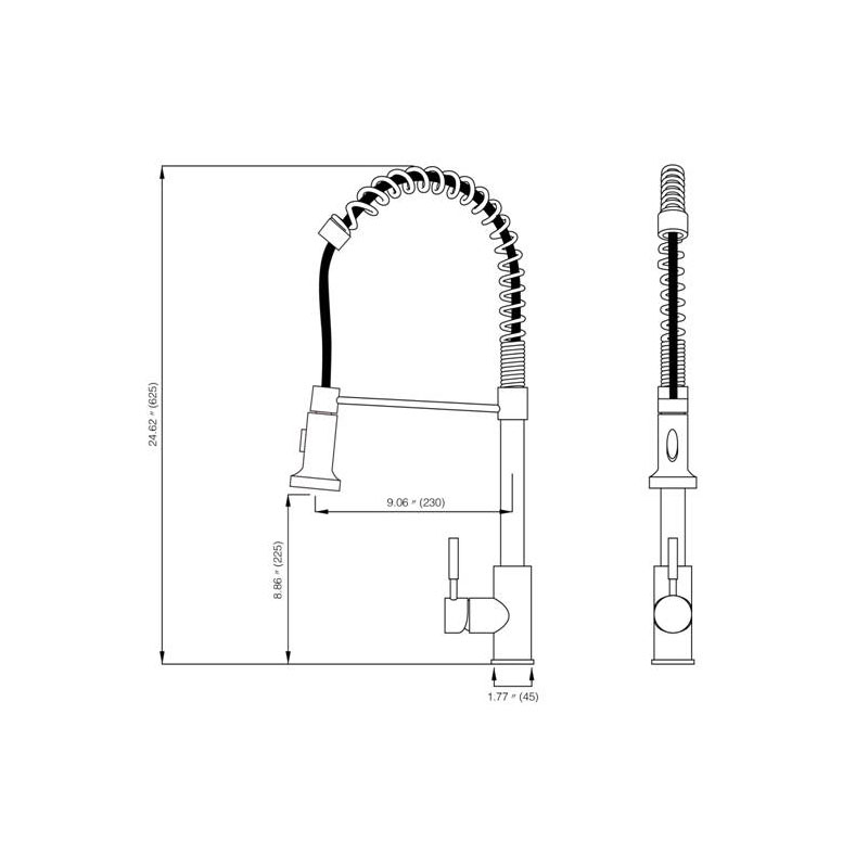 Single Handle Kitchen Spring Faucet