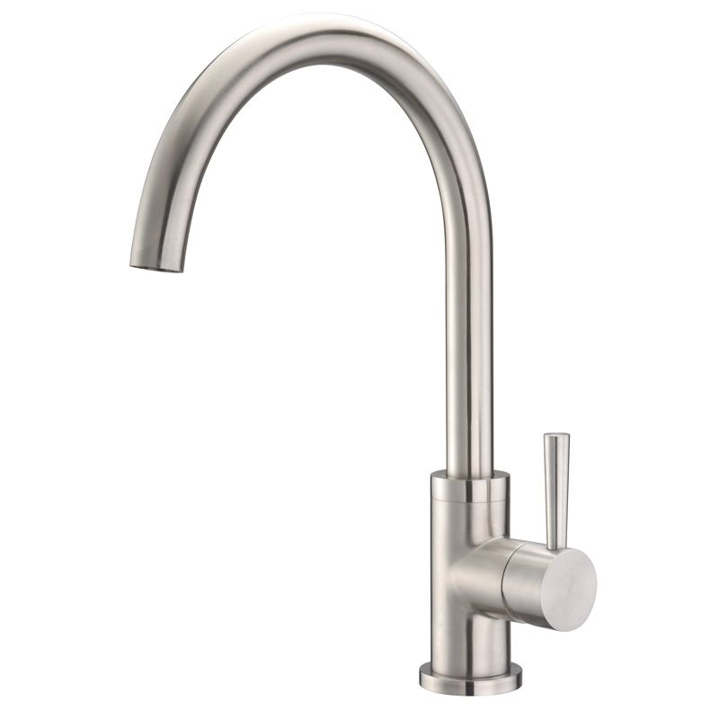 Solid Stainless Steel Single Lever Kitchen Faucet